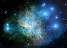 Nebulosa y estrellas en espacio ilustración del vector