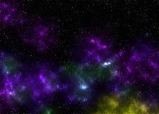 Nebulosa y galaxia Fotografía de archivo