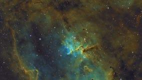 Nebulosa y galaxias en espacio exterior libre illustration