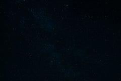 Nebulosan av Vintergatan i natthimlen med stjärnor Arkivfoto