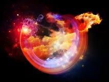 Nebulosas coloridas del diseño Fotos de archivo