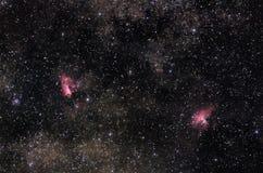 Nebulosas de la vía láctea Imagenes de archivo