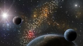 Nebulosas, estrellas y planetas Ciencia ficción y backround del astro Fotografía de archivo libre de regalías