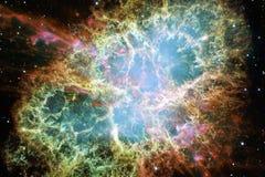 Nebulosas y estrellas en espacio profundo Arte cósmico, papel pintado de la ciencia ficción fotos de archivo libres de regalías