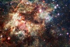 Nebulose e molte stelle nello spazio cosmico Elementi di questa immagine ammobiliati dalla NASA illustrazione di stock