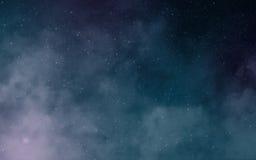 Nebulose profonde dello spazio scuro Fotografia Stock Libera da Diritti