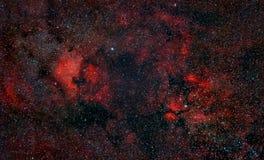 Nebulosity around Cygnus Constellation stock photography