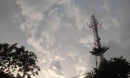 Nebuloso na torre Fotografia de Stock Royalty Free