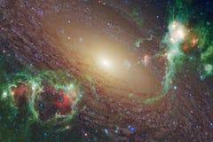 Nebulosor och stjärnor i yttre rymd, glödande mystiskt universum royaltyfri fotografi