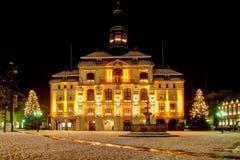 Neburg del ¼ de LÃ cerca de Hamburgo Alemania: Ayuntamiento famoso viejo Foto de archivo libre de regalías