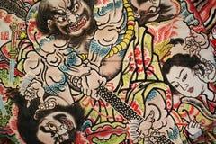 Nebuta den traditionella japanska festivalen, Hirosaki, Aomori, Jap Arkivfoto