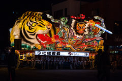Nebuta float parade in Aomori city, Japan on August 6, 2015 Stock Photography