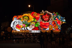 Nebuta float parade in Aomori city, Japan on August 6, 2015 Royalty Free Stock Photo