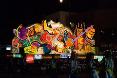 Nebuta float parade in Aomori city, Japan on August 6, 2015 Royalty Free Stock Photography