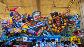 The Nebuta float store in a shed. Royalty Free Stock Photos