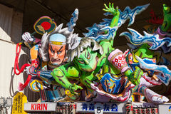 The Nebuta float store in a shed. Royalty Free Stock Image