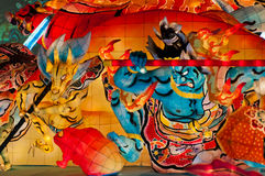 Nebuta lantern in Aomori, Japan. Lantern float for Nebuta Festival (Nebuta Matsuri). The festival is held annually from August 2 to 7 in Aomori, Japan stock photos