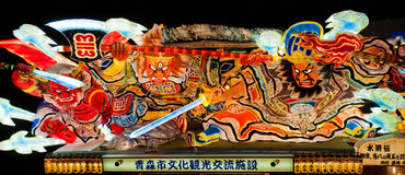 Nebuta lantern in Aomori, Japan. Nebuta lantern for Nebuta Matsuri (Nebuta festival). The festival is held annually from August 2 to 7 in Aomori, Japan royalty free stock photography