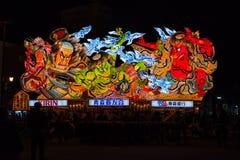 Nebuta pławika parada w Aomori mieście, Japonia na Sierpień 6, 2015 zdjęcie royalty free
