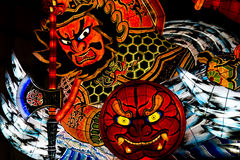Nebuta Parade Float. In Aomori, Japan for the Nebuta Festival in July 2015. The Aomori Nebuta Festival (Matsuri) started in the Edo period Royalty Free Stock Image