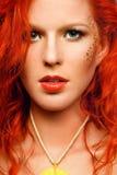 nec κοριτσιών makeup redhead προκλητικό&si Στοκ φωτογραφίες με δικαίωμα ελεύθερης χρήσης