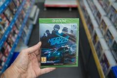 Necesidad del videojuego de la velocidad en XBOX uno Fotografía de archivo libre de regalías