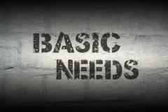Necesidades básicas GR imagen de archivo