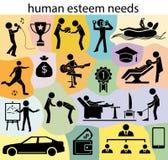 Necesidades humanas de la estima stock de ilustración