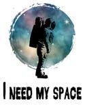 Necesito mi diseño de espacio stock de ilustración