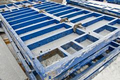Blocks to fill the foundation for a new building. stock photos