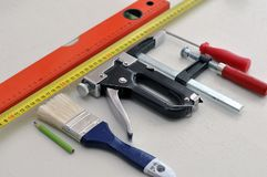The necessary repair tools that every home craftsman should have. stock photography