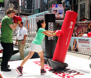 Necessary roughness. A day of sport activities in times square promoting  the new tv series, necessary roughness Royalty Free Stock Photography