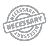Necessary rubber stamp Stock Image