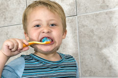 So it is necessary to clean the teeth Stock Photography