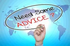 Necessidade da escrita da mão algum conselho na tela visual Foto de Stock Royalty Free