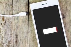 Necessità dello Smart Phone di caricare batteria Fotografia Stock Libera da Diritti
