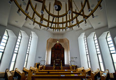 Nechalim synagogue in Israel stock images