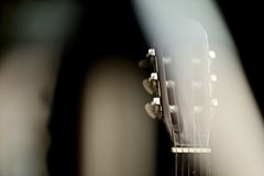 Neck acoustic guitar with a beautiful blur. Stock Photography