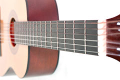 Neck of an acoustic guitar Royalty Free Stock Photo