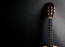 Neck of an acoustic guitar Royalty Free Stock Photos