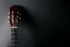 Neck of an acoustic guitar Stock Image