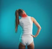 Neck and back pain stock photos