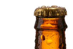 Neck of a beer bottle Stock Images