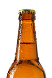 Neck of beer bottle Royalty Free Stock Images