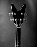 Neck of a black guitar Royalty Free Stock Photography
