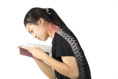 Neck bone pain royalty free stock photo