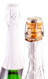 Neck of a bottle of champagne Stock Images