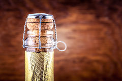 Neck of a bottle of champagne Royalty Free Stock Image