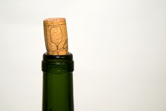 The neck of the bottle with a stopper Royalty Free Stock Photos