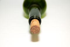 The neck of the bottle with a stopper Royalty Free Stock Image